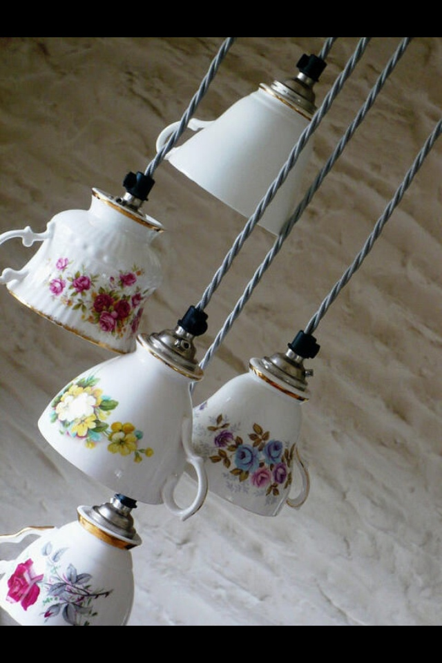 Teacup lights, this may be the cutest thing i've ever seen!