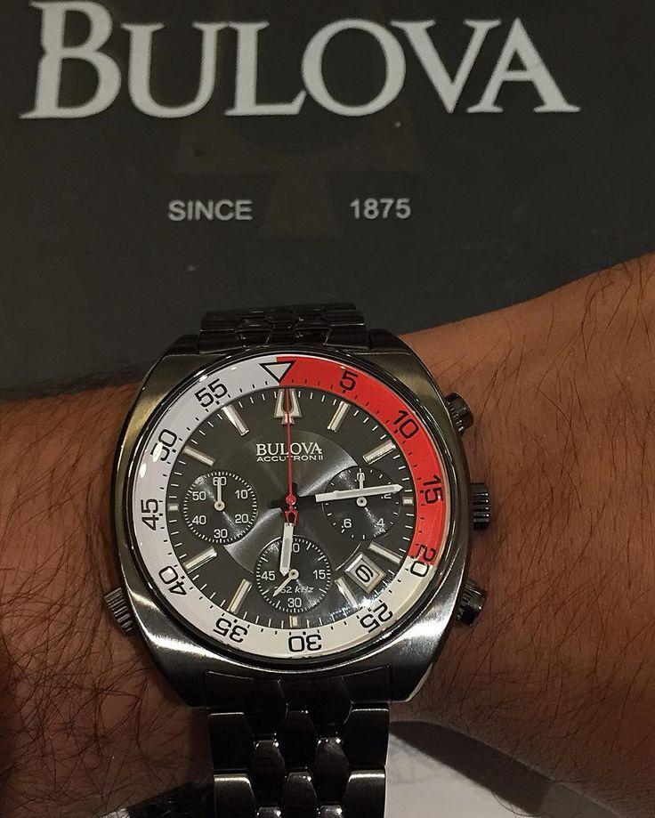Reloj para caballero Bulova accutron II Modelo:98b253 Precio:$10750 30% de descuento  6 meses sin intereses o 10% extra en pago de contado ..promoción del 30% válida hasta el 7 de abril del 2016 #luxurywatch #bulova #accutronII #relojes #angelswatch #watches #notequedesconlasganas #losmejoresprecios #preciosdeluxurywatch by luxurywatchmerida