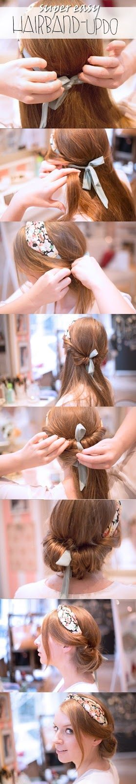 {Frisurentutorial mit Ohh Lala} super easy Hairband Updo