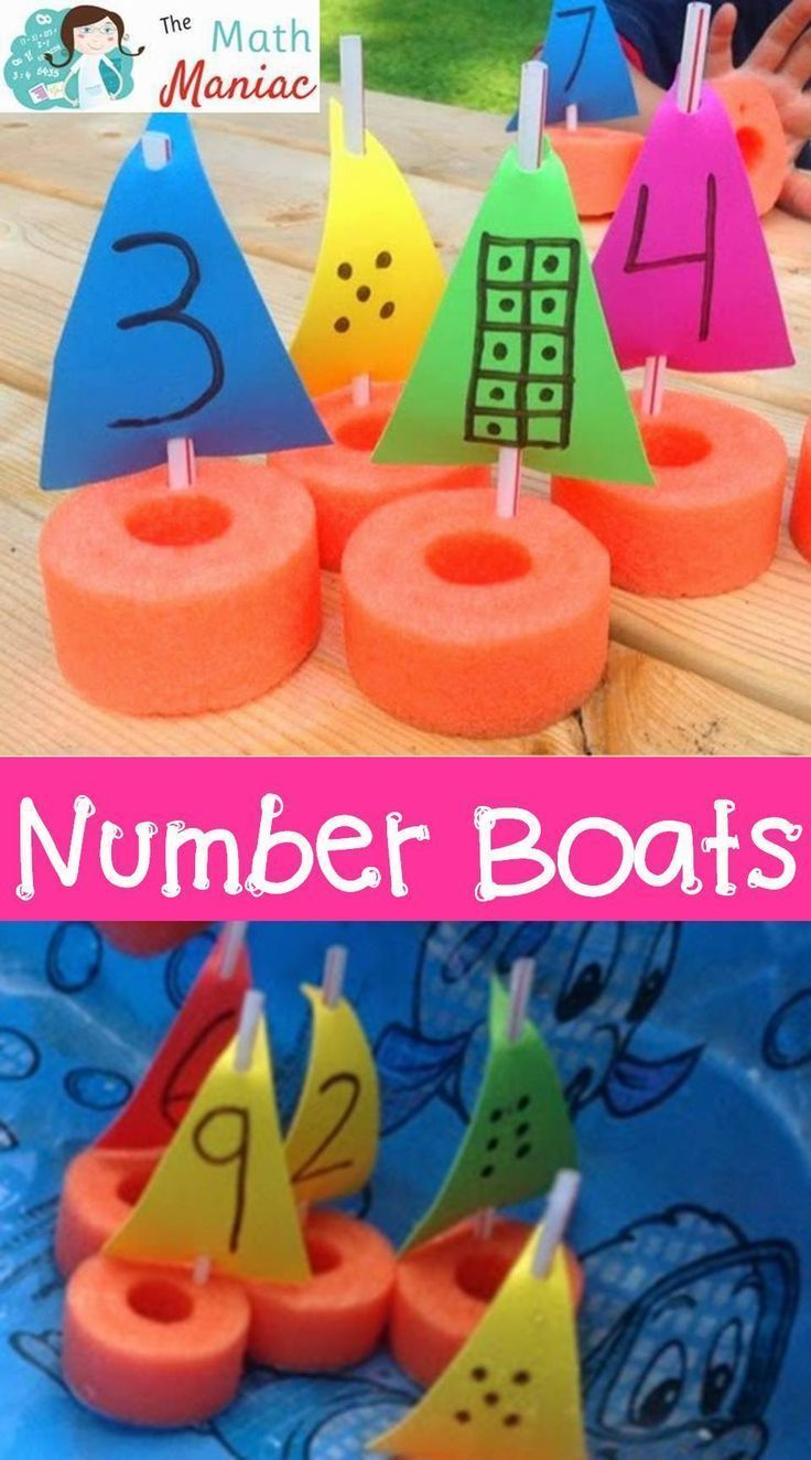 A fun and inexpensive way to work on number recognition, subitizing and other early numeracy skills. Number boats are inexpensive to make and fun for kids! Use them in summer school, at home or in the bathtub! Great for preschool and kindergarten students.