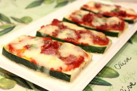 courgette façon pizza