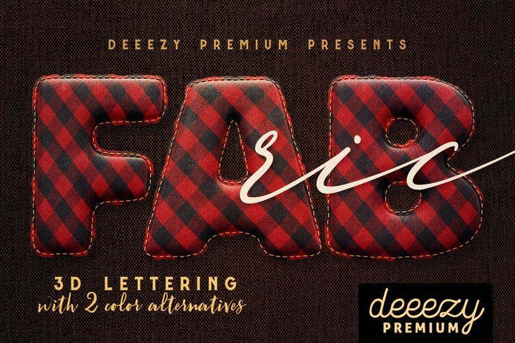 Fabric – 3D Lettering | Deeezy - Freebies with Extended License
