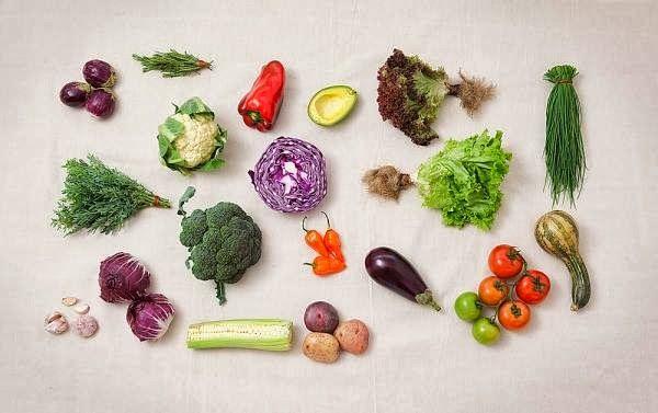 organic fruits veggies