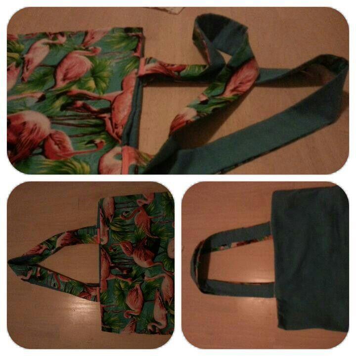 Bolsa de tela reversible costura DIY