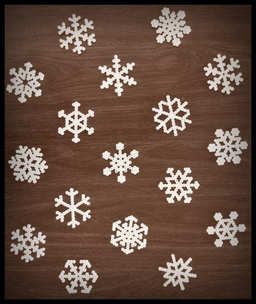 perler beads - snowflakes