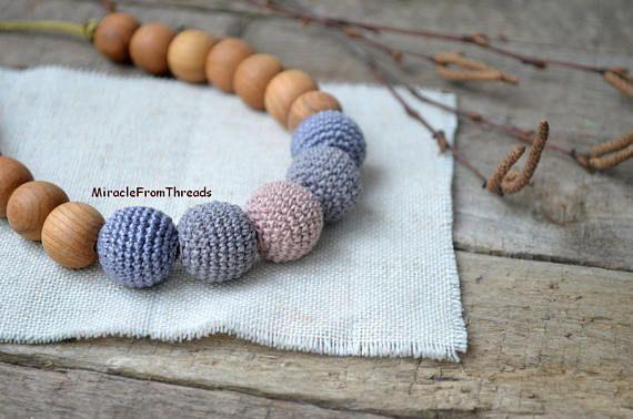 Nursing necklace in rustic styleSafe breastfeeding