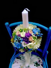 Flower Decor - Botez: Lumanare botez baiat cu fluturasi