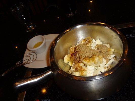 Melting Pot Bananas Foster Fondue from Food.com:   								I loved this when we visited the Melting Pot so I tracked it down and placed it on here