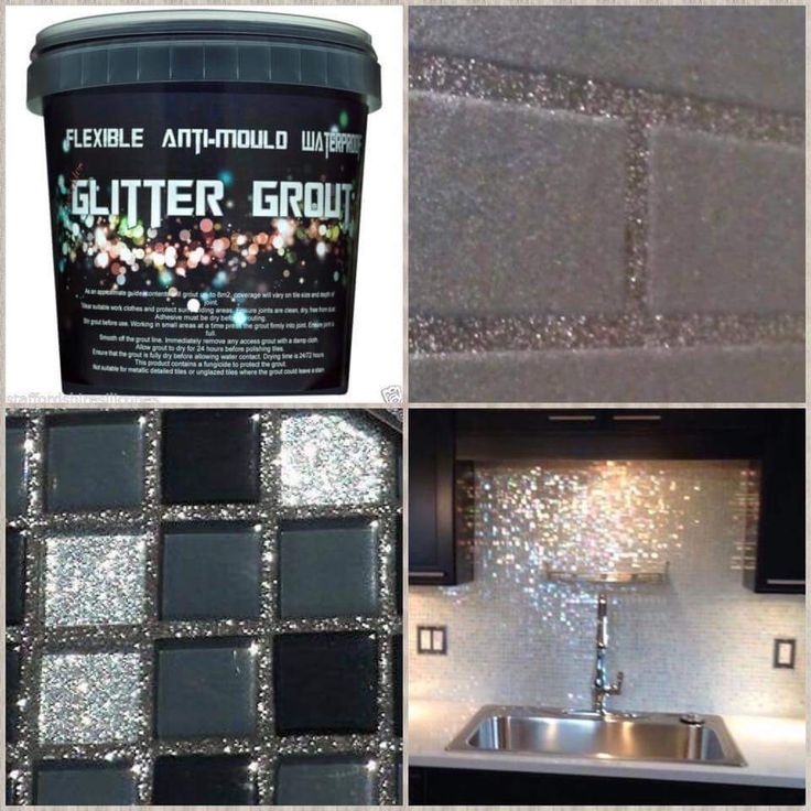 amazing glitter grout, looks great on the splash back ...