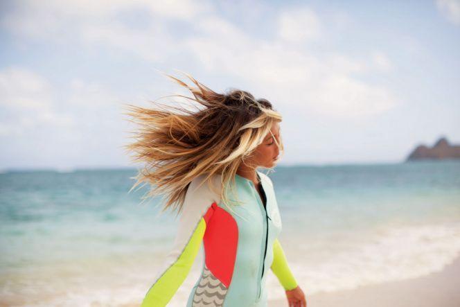 Combinaison de surf intégrale femme pastel et fluo Billabong été 2013© Billabong