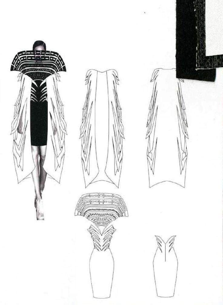 Fashion Sketchbook - fashion drawings & fabrics; fashion student portfolio // Sian Thomas