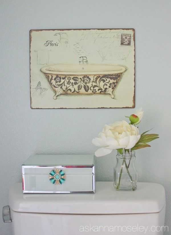 211 best decorate bathroom images on pinterest - Anna s linens bathroom accessories ...