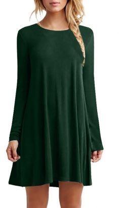 Rochie/bluza verde cu maneca lunga