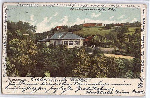 Slowakei: Pressburg, Batzenhäusl, gel 1901
