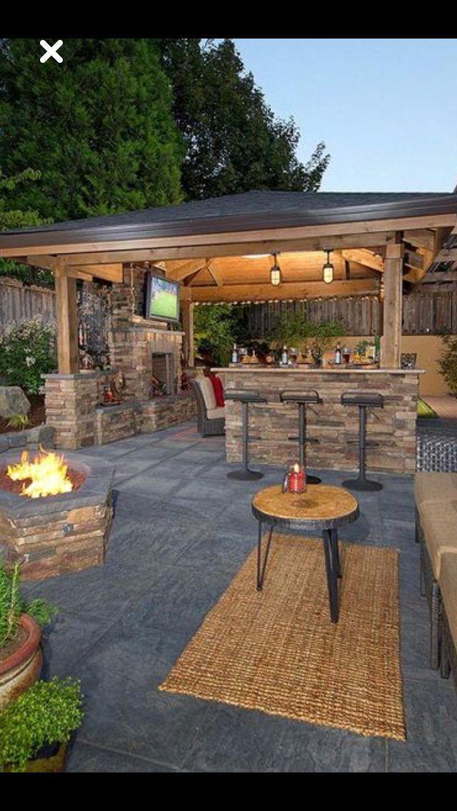 45 Awesome Outdoor Kitchen Ideas And Design Asadores De Patio Patio Con Jardin Patios Traseros