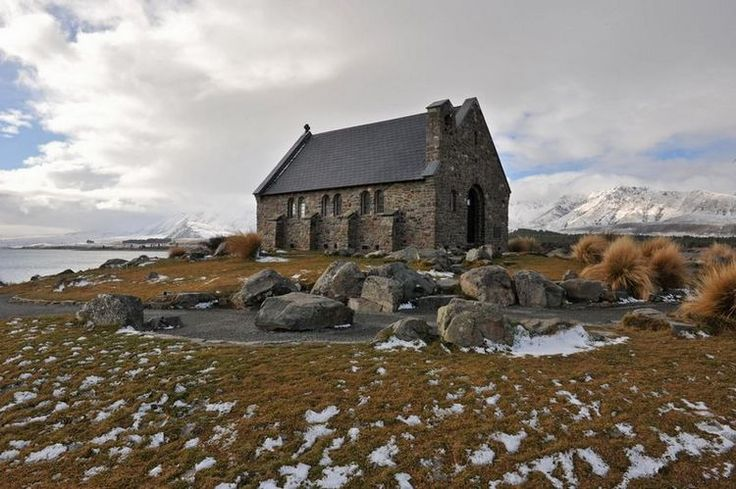 Church of the Good Shepherd, Lake Tekapo, New Zealand. Okay not so warm but still a great destination wedding   Photograph by Ken Morrison.