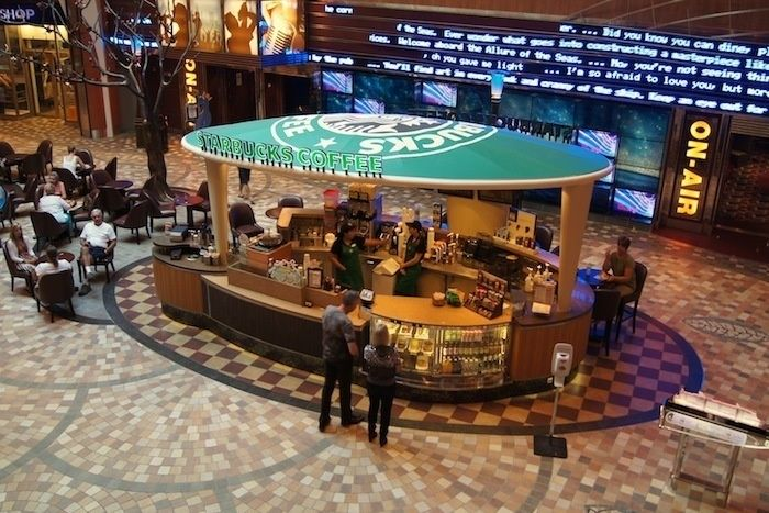 Allure of the Seas cruise ship by Royal Caribbean International.