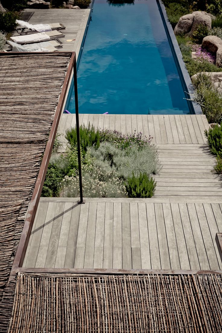 lap pool and love the shade idea plus deck boards in different directions