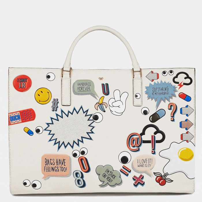 The #AnyaHindmarch #SS15 #runway Featherweight Ebury, brought to life by #FashGIF #ANYAanimation