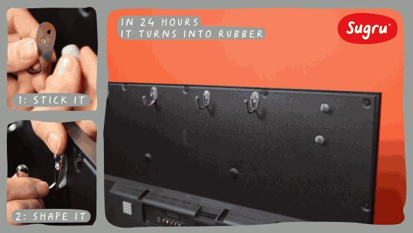 Genius way to tidy away TV cables & accessories | Sugru