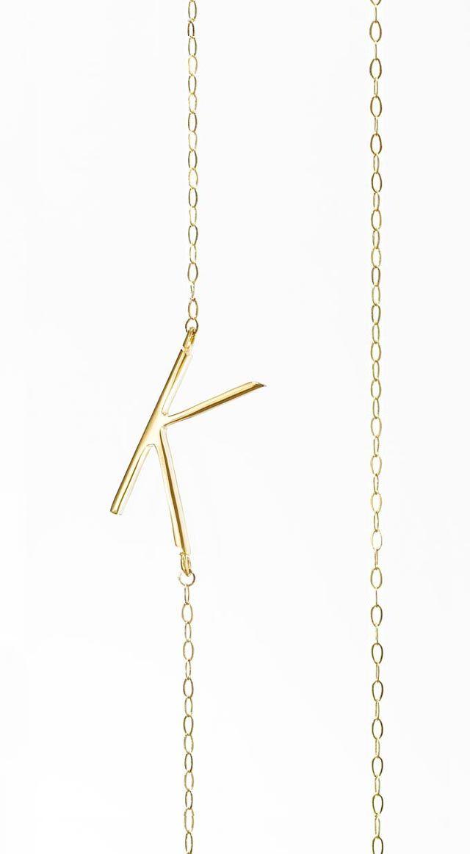 Albeit Jewelry pendant necklaces 14k horizontal necklaces, K initial necklace, K pendant necklace, K necklace