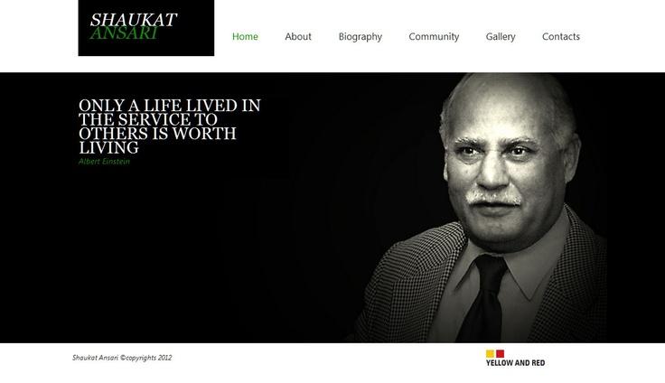 Simple Website design, Black