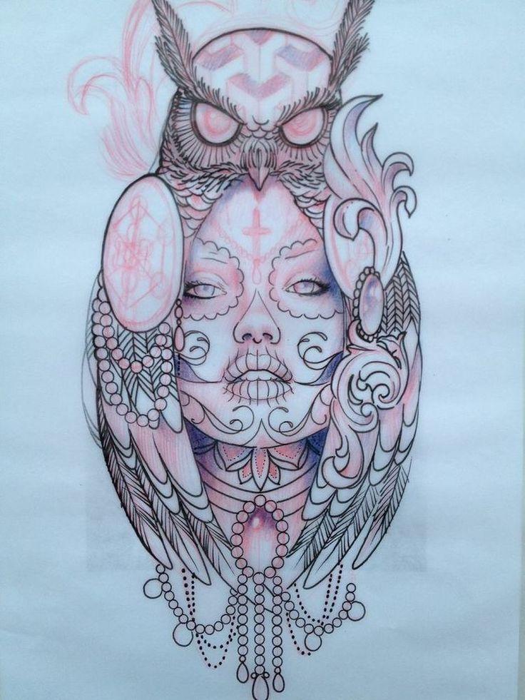 owl tattoo tattoos pinterest girls eulen. Black Bedroom Furniture Sets. Home Design Ideas