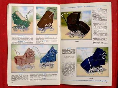 Vintage 1939 PEDIGREE PRAM CATALOGUE Complete + Price List. Lines Bros. | eBay