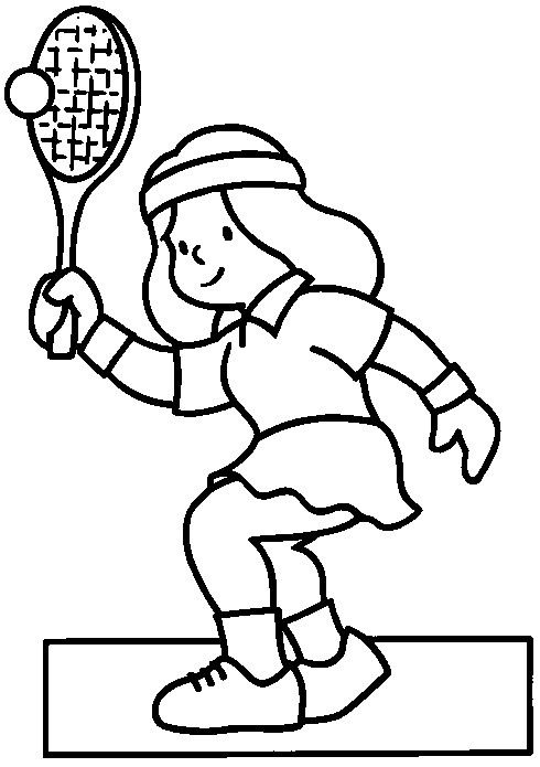 Sports Coloring Pages 19