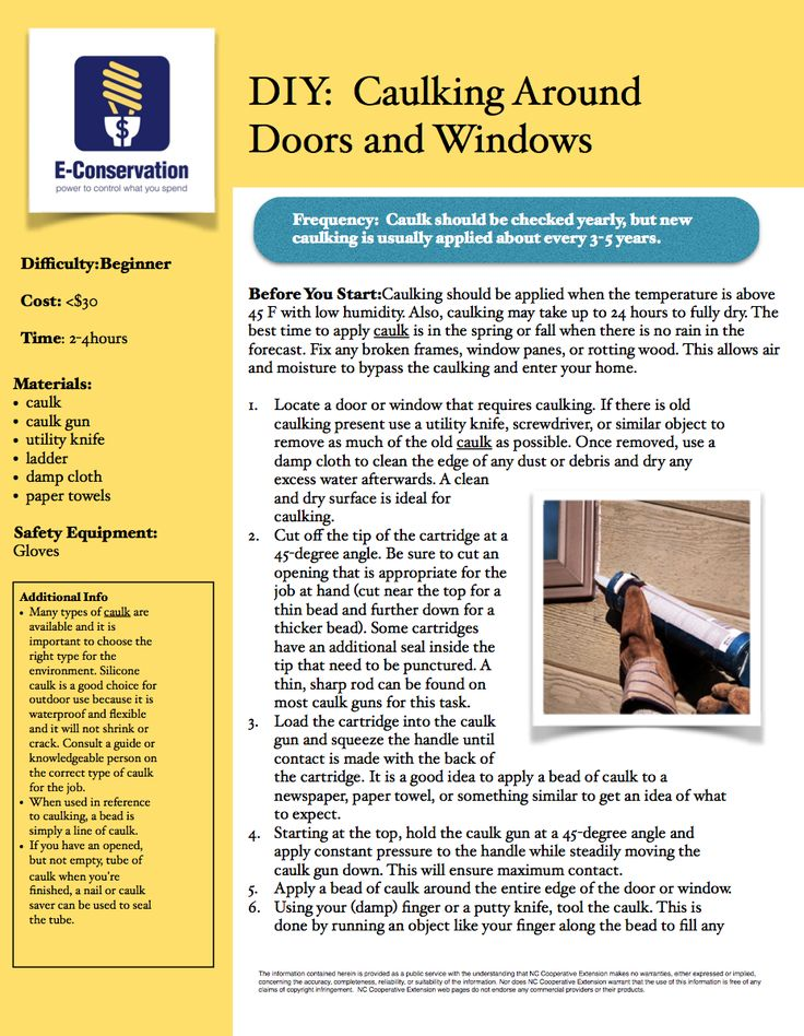Air Sealing and Insulation Caulking and Weatherstripping