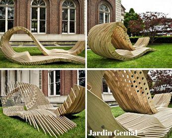 Jardin Génial – Google+ Оригинальный дизайн лавочки- идеальное место для релаксации.  #JardinGenial #ландшафтный_дизайн  #Озеленение #Освещение #Полив #Постройки_на_участке