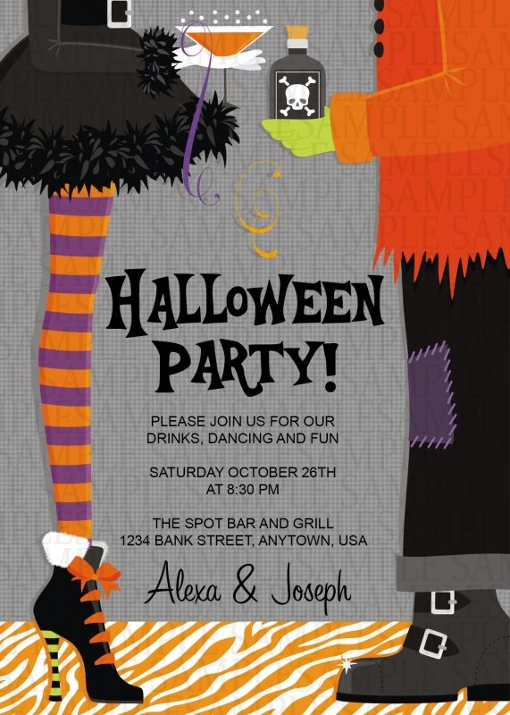 Adult Halloween Party Invitations Part - 49: Costume Adult Birthday Party Invitation $11. Halloween ...