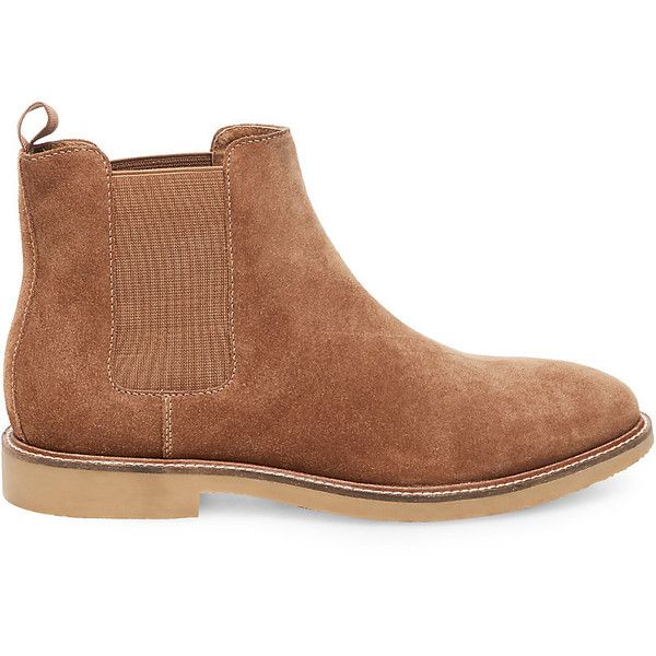 Steve Madden Highline Boots (160 BRL) ❤ liked on Polyvore featuring men's fashion, men's shoes, men's boots, mens fur lined shoes, steve madden mens boots, mens slip on boots, mens slip on shoes and mens rubber sole shoes