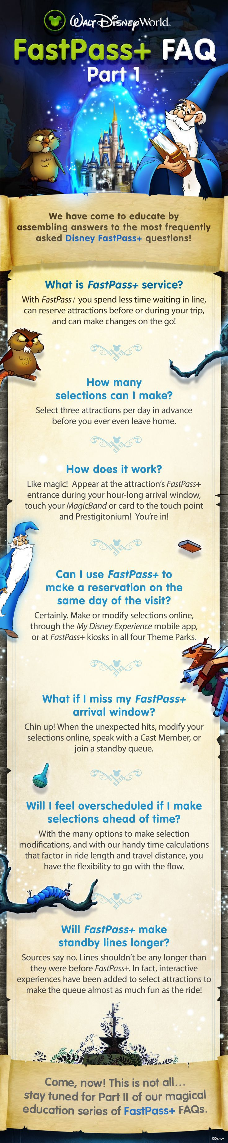 Curious about how to take advantage of FastPass+ during a trip to the Walt Disney World Resort? Here are the answers to some of the most frequently asked FastPass+ questions!