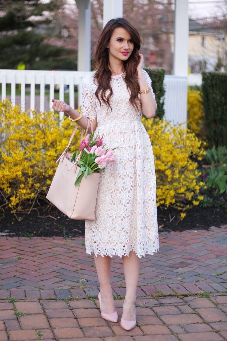 A white lace dress for Easter | Kiss Me Darling