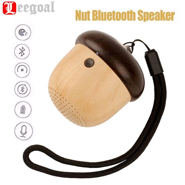 Portable Bluetooth Speaker Mini Nut USB Stereo Speaker Music Player For Car Phone Outdoor Travel Wood Loudspeaker Christmas Gift