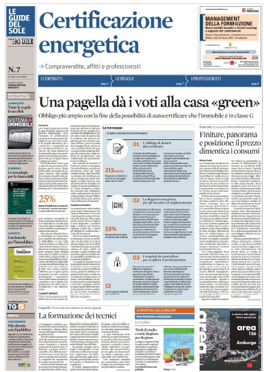 Le Guide del Sole N.7 - Certificazione energetica (04.03.2013)  Italian | PDF | 4 Pages | 5,61 MB