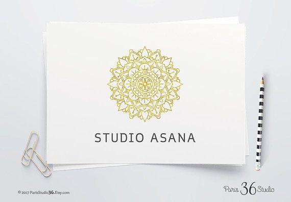 Instant Download Logo Gold Foil Mandala Logo Design Photoshop