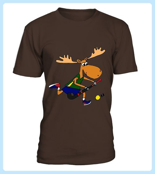 Smiletodaytees Funny Moose Playing Field Hockey Tshirt (*Partner Link)
