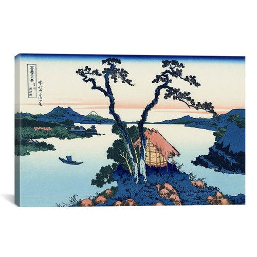 Found it at AllModern - 'Lake Suwa in the Shinano Province' by Katsushika Hokusai Graphic Art on Canvas