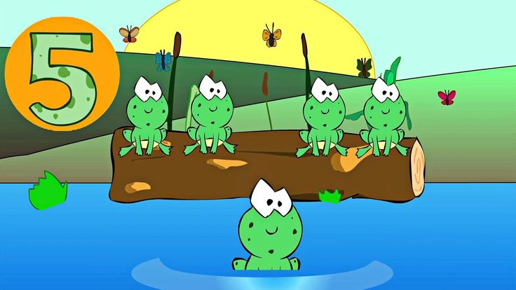 Five Little Speckled Frogs Nursery Rhyme - Classic Nursery Rhymes Video for Kids