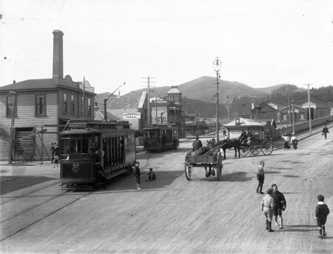 Intersection of Riddiford Street, Mansfield Streets and Russell Terrace, in Newtown, Wellington