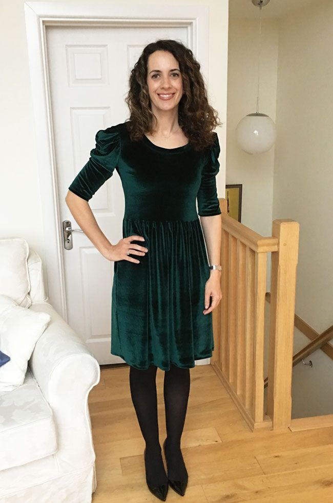 Louisa's Agnes dress in stretch velvet - so lush!