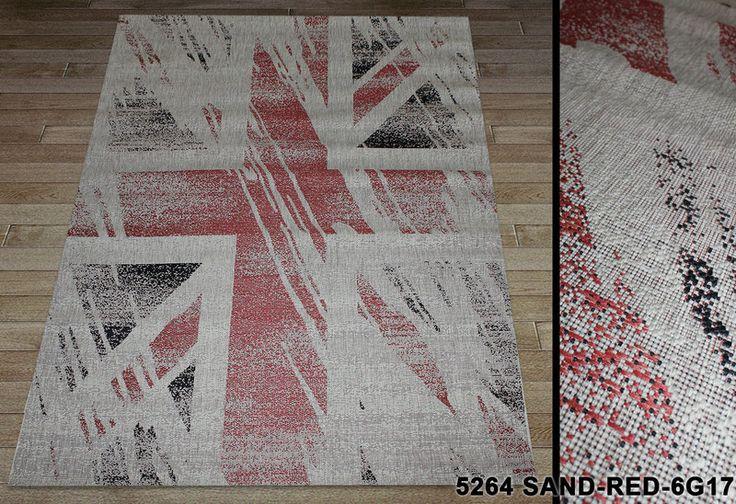 "Коврик - рогожка Сизаль ""Британский флаг"". Ковер-рогожка цена, фото 1"