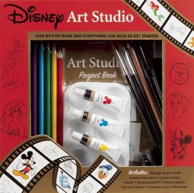 Disney Art Studio [With Palette and Drawing Pencil, 7 Colored Pencils and 2 Paintbrushes and 3 Water