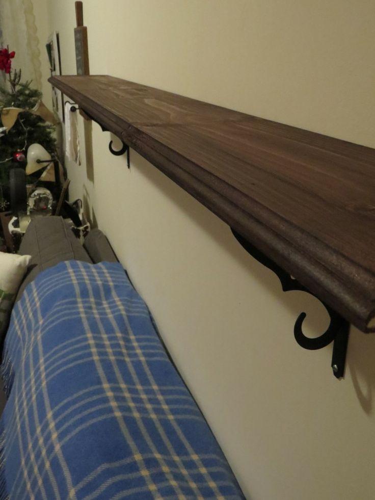 my diy decorative shelf how to hang shelf pretty brackets. Black Bedroom Furniture Sets. Home Design Ideas