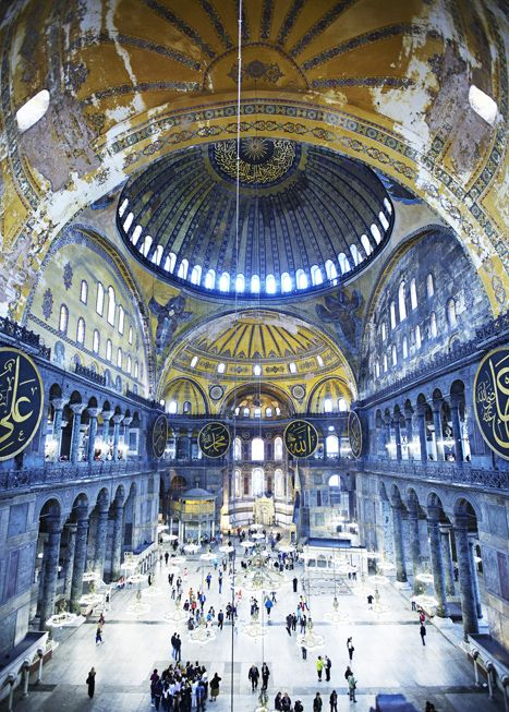 Agia Sophia, Istanbul. The Orthodox Church, come Mosque, come museum,is still a pilgrimage for many Greeks - photo by Mark Read for Lonely Planet