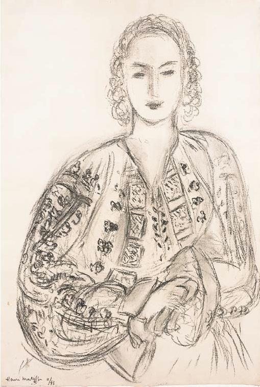 Femme a la blouse roumaine - Henri Matisse (1943)