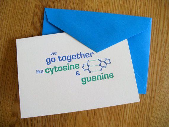 DNA basepair letterpress greeting card