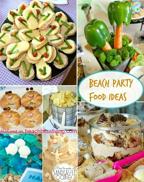 Yummy Beach Party Food Ideas. Featured on Beach Bliss Living: http://beachblissliving.com/beach-party-food-ideas/